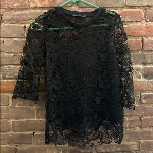 Zara lace black top- size small